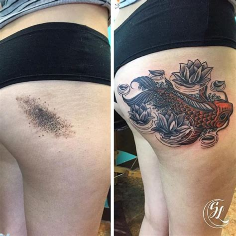 creative birthmark tattoos cleverly incorporated