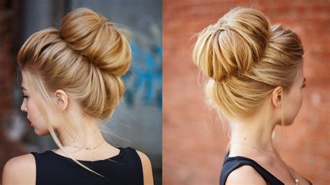 Chic textured bun updo for prom / wedding   YouTube