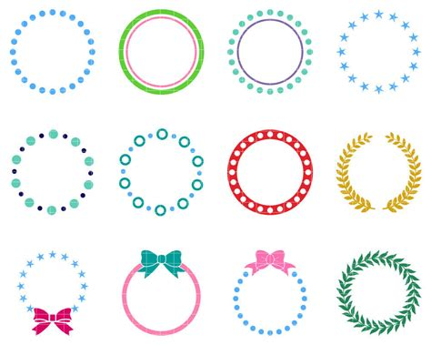 Our free svg cut files are a file type that can be scaled to use with cricut, silhouette and other svg cutting machines. Monogram Frame SVG Cut File, Circle Monogram Frames DFX ...
