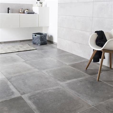cuisine effet beton carrelage sol et mur gris cendre effet béton harlem l 60 x