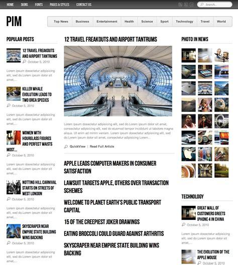 tutorial template newspaper pim newspaper magazine and blog template tutorialchip