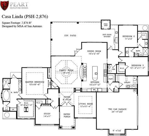 single story open floor plans casa linda  story home floor plan custom home building