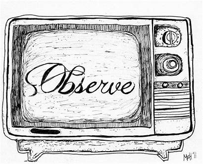 Television Sketch Micron Nightly Sketches Watercolor