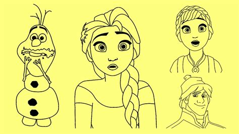 How To Draw Disney Frozen Characters