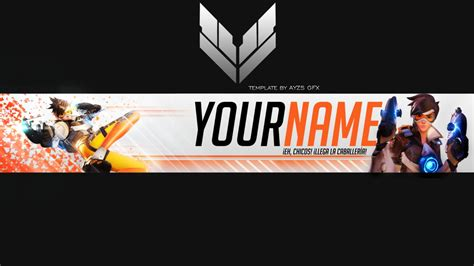 tracer overwatch  banner template  ayzs