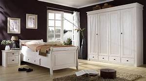 Schlafzimmer Weiß Komplett : schlafzimmer weiss kiefer komplett massivholz m bel in ~ Pilothousefishingboats.com Haus und Dekorationen