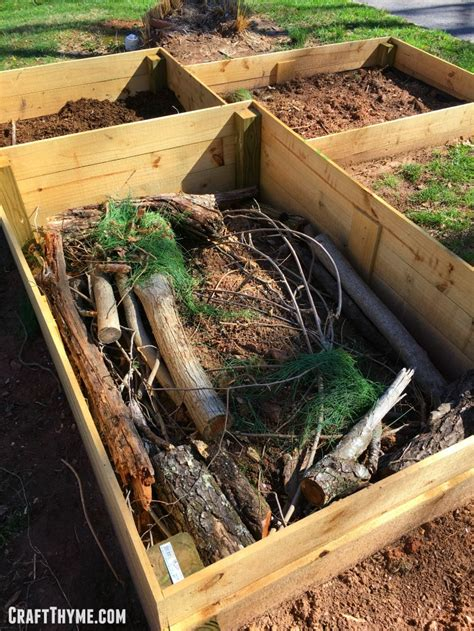 Hugelkultur Raised Beds by How To Prepare Raised Garden Beds Free Style Craft