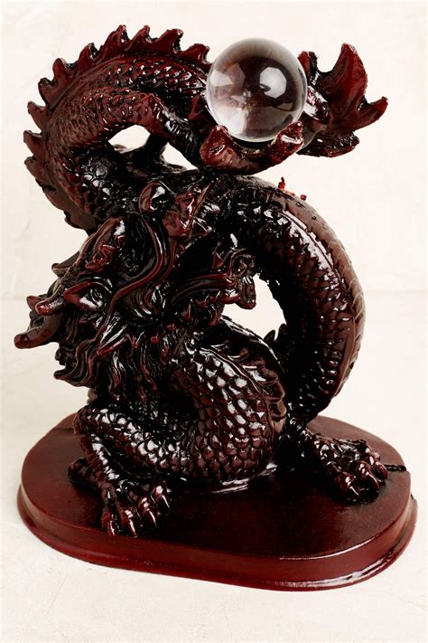 red resin dragon  sphere earthbound trading