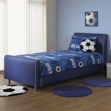 boys beds hf4you co uk a i beds azure boys blue faux leather bed free delivery
