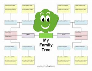 5 generation kid family tree template With printable family tree template 5 generations