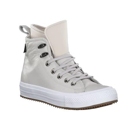 High Top by Converse High Top Sneaker Aus Leder 680047 Hellgrau Im