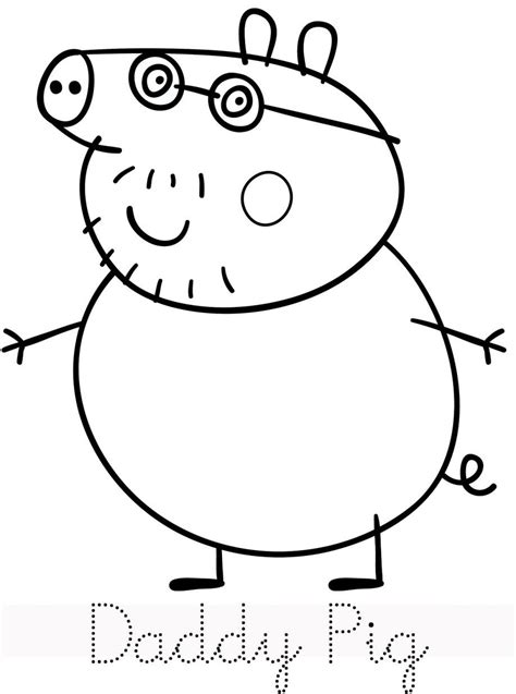 Free Printable Peppa Pig Coloring Pages Coloring Home