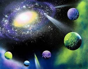 How to Spray Paint Art: Planets & Galaxy - A Piece Of Rainbow