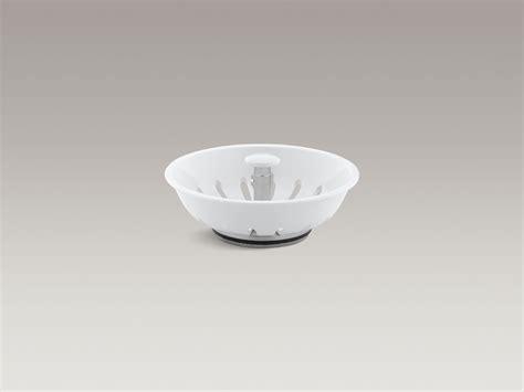 Kohler Sink Strainer Basket White by Standard Plumbing Supply Product Kohler K 8803 7