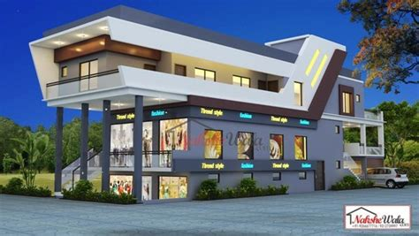 Home Design One Business School by Commercial Building Elevation Front 3d View Design Ideas