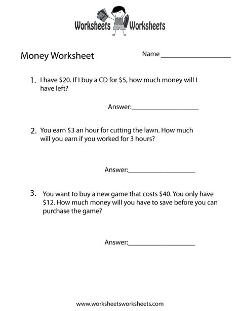 Money Word Problems 6th Grade  5th Grade Math Word Problem Worksheets1000 Images About Money On