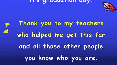 kindergarten graduation song  lyrics karaoke sing
