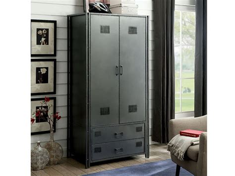 ziva industrial metal armoire shop  affordable home