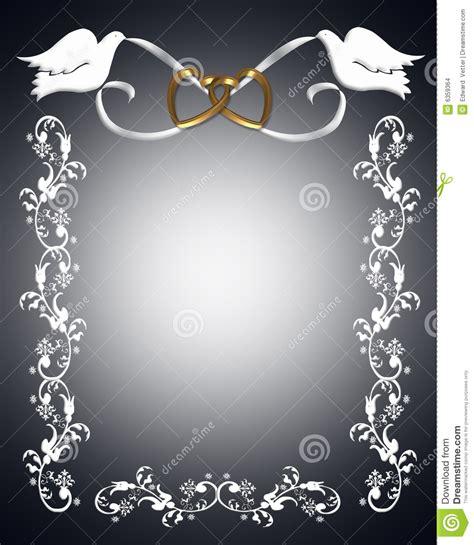 Wedding Invitation White Doves Stock Images Image: 6359364