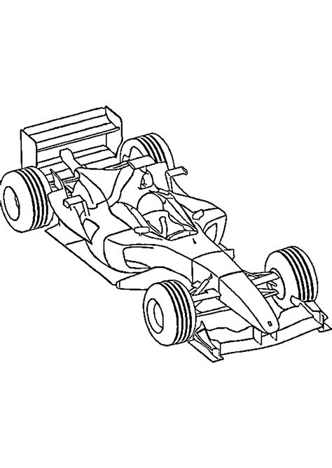 coloriage voiture de  formule  artemiaorg