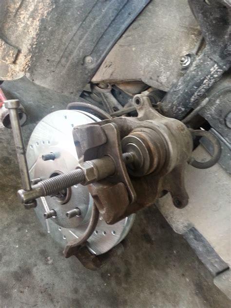 corolla diy diy front brake  rotors  toyota camry