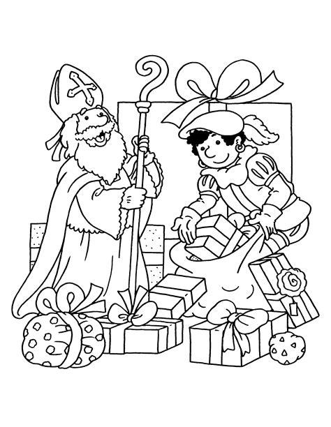 Kleurplaat Piet En Sint by Kleurplaten Sint En Piet