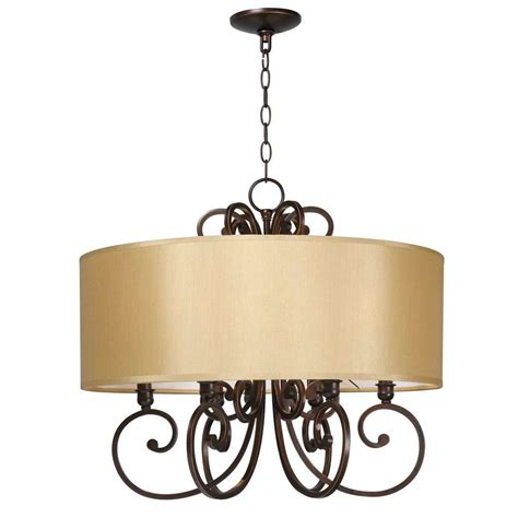 6 Light Chandelier With Shades by World Imports Rue Maison 6 Light Iron And Bronze