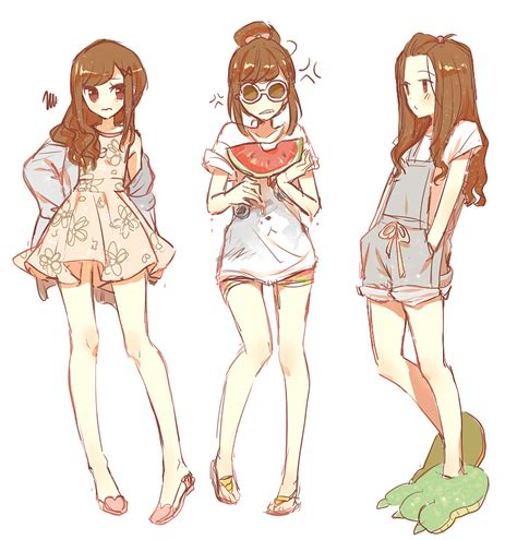 Fashion sketches anime dress drawing base anime outfits. 35+ Trends For Summer Cute Anime Girl Clothes Drawing ...