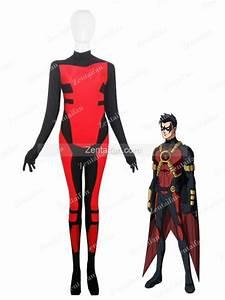 Red Robin Tim Drake Spandex Superhero Costume [SC267] - US$52.67