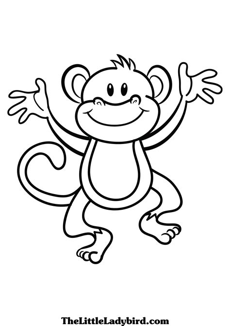 monkey template hanging monkey template clipart panda free clipart images