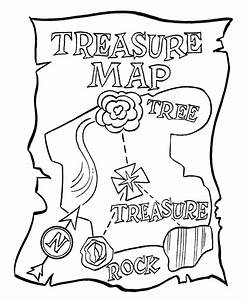 Pirate Treasure Map Coloring Pages - Coloring Home