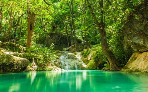 Hintergrundbilder Jungle Natur Wasserfall Tropen Wälder