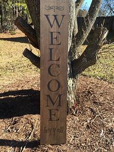 Wooden, Welcome, Sign, Front, Porch, Welcome, Sign, By, Southernstockco