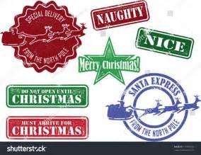 Santa North Pole Mail Stamp
