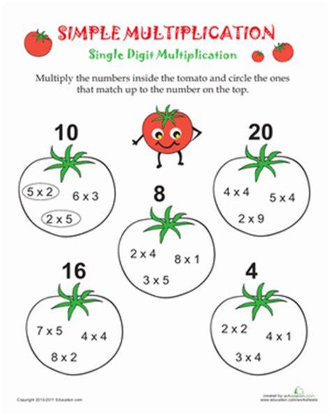 Simple Multiplication  Worksheet Educationcom