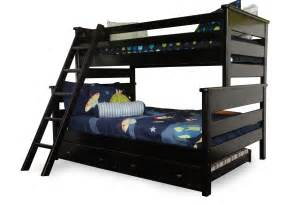 trendwood laguna black cherry bunk bed with trundle mathis brothers furniture
