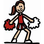 Clip Cheer Cliparts Clipart Cheerleaders Attribution Forget