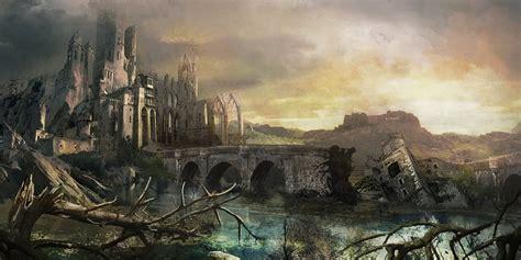 fantasy  medieval buildings cities castles