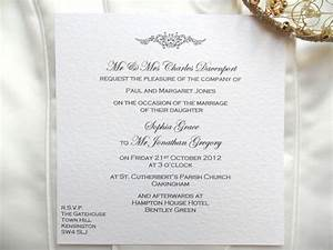 wedding invitation wording wedding invitation wording british With wedding invitation wording uk from bride and groom