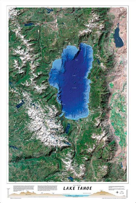 tahoe lake map bluewater maps area trail edge boredfeet lagoon rim resorts van