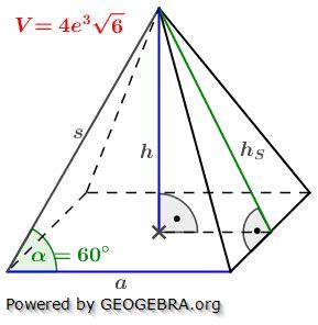 pyramide  berechnen berechnen des oberfl cheninhalts der