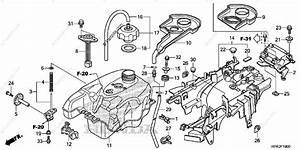 Honda Atv 2013 Oem Parts Diagram For Fuel Tank