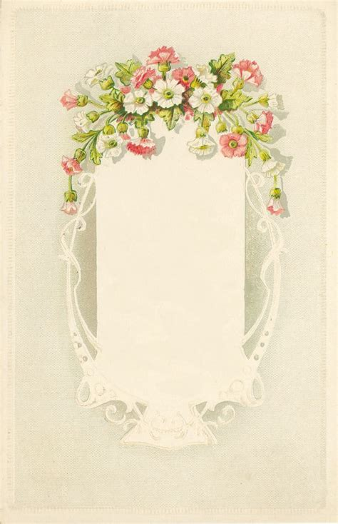 dainty pink  white flowers lace  frame vintage