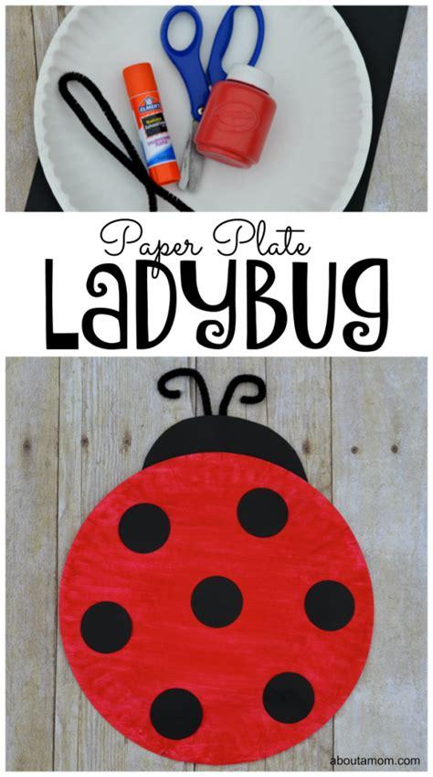 paper plate ladybug craft  kids   mom