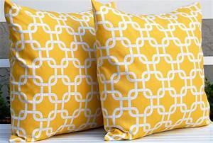 Yellow Throw Pillows Metallic Gold Throw Pillows Accent