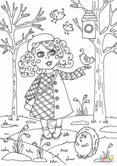 Coloring March Pages Spring Peppy Printable Outside