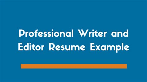 Professional Resume Writer by Professional Writer And Editor Resume Exle Zipjob
