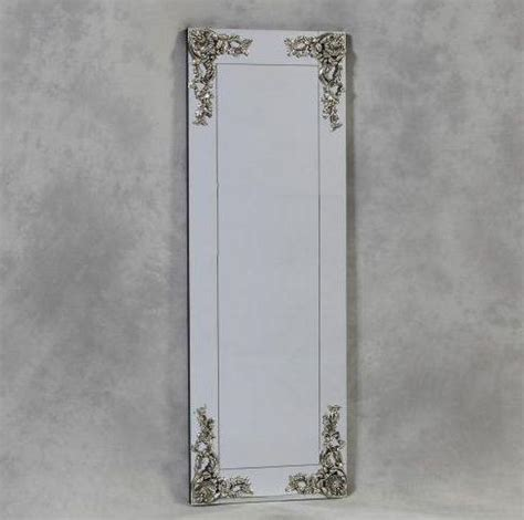 floor mirror in corner long frameless decorative corner leaning wall mirror 163 175 00 enid hutt gallery