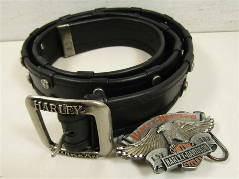 Harley Davidson Motorcycle Genuine Leather Black Men's