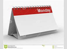 Calendar For Monday On White Background Royalty Free Stock